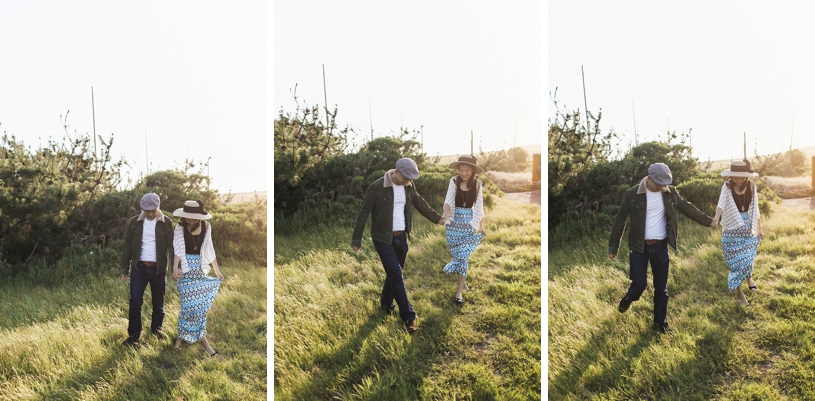candid sweet engagement session in Point Reyes by Heather Elizabeth Photography