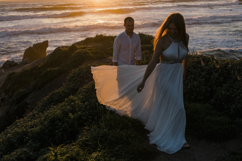 sunset wedding on the coast of big sur by heather elizabeth photography