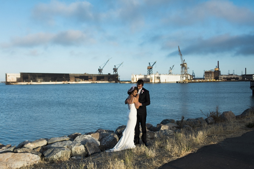 Industrial wedding portraits in the Dog Patch of San Francisco by Heather Elizabeth Photography