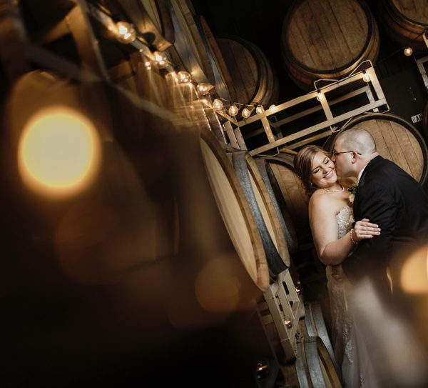 Julie + Frank | A winter wedding at the Domenico Winery