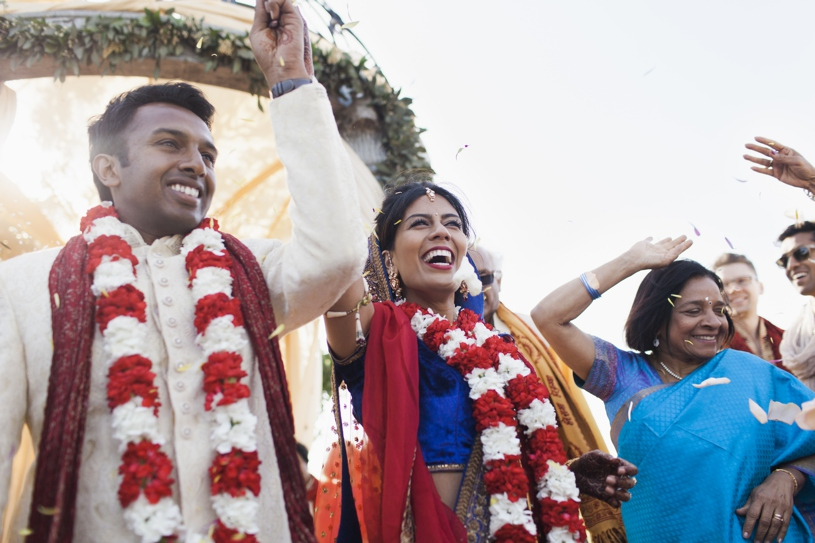 bright and colorful traditional Hindu Indian wedding ceremony at the Meritage Resort in Napa by Heather Elizabeth Photography