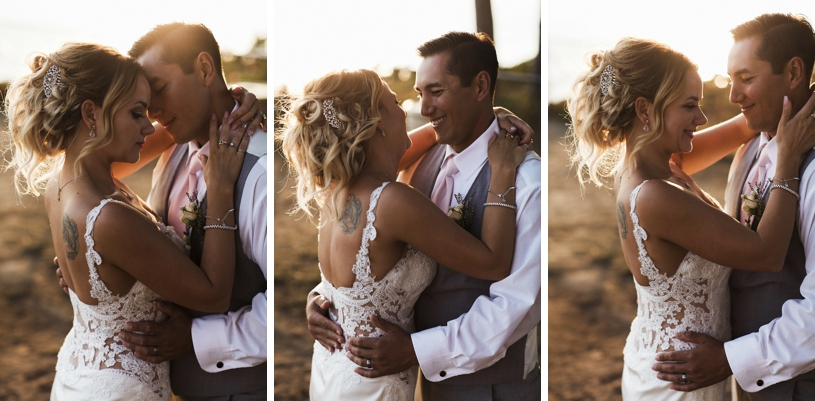 romantic and candid wedding day portraits at the seascape resort by heather elizabeth photography