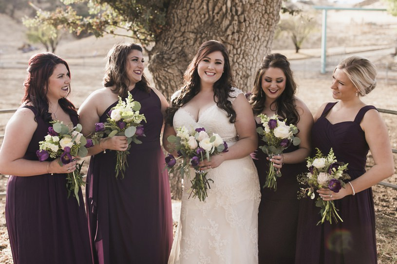 country western wedding bridesmaides