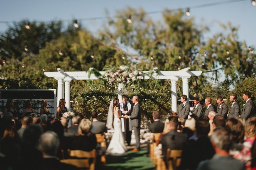 wedding ceremony site at perry house in carmel by top photographer heather elizabeth photography