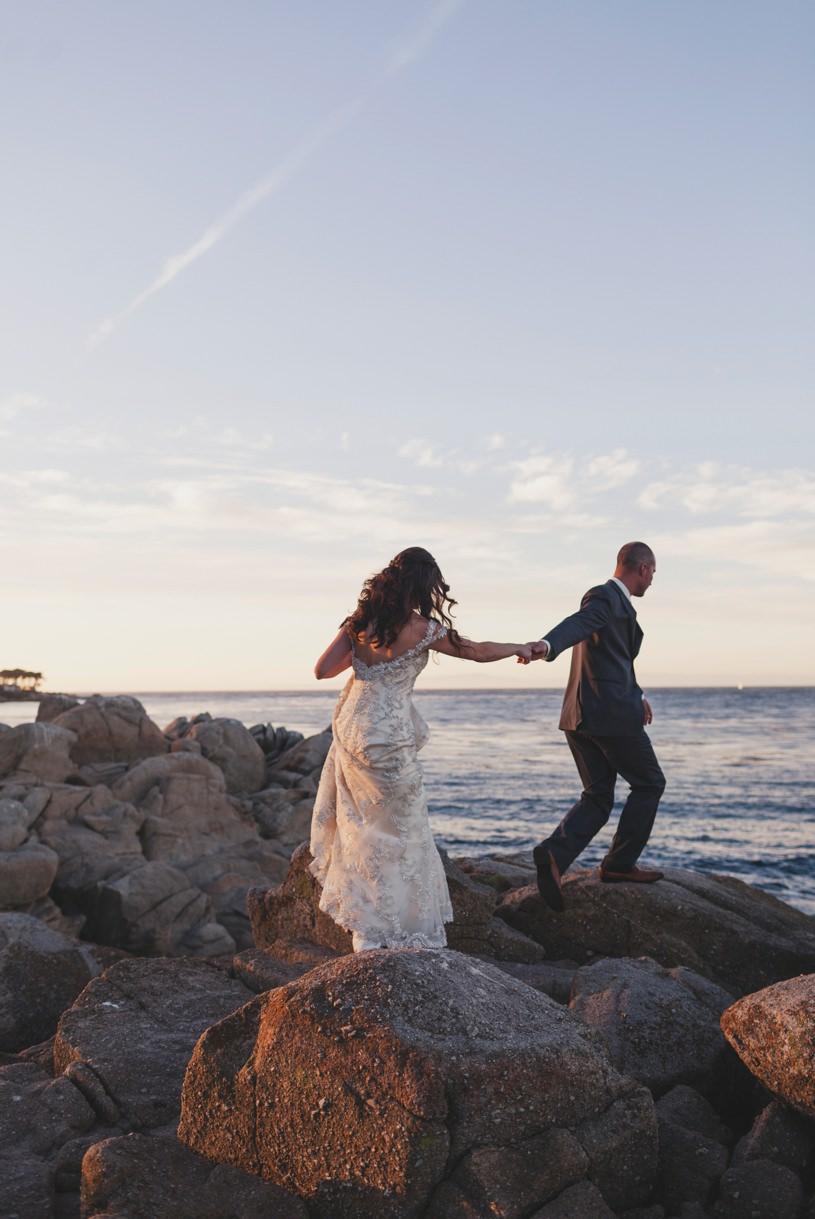 lovers point wedding pics in Carmel by Heather Elizabeth
