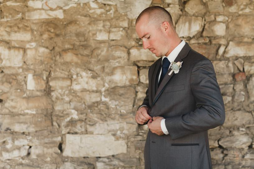 stylish groom portrait in Carmel by top wedding photographer heather elizabeth
