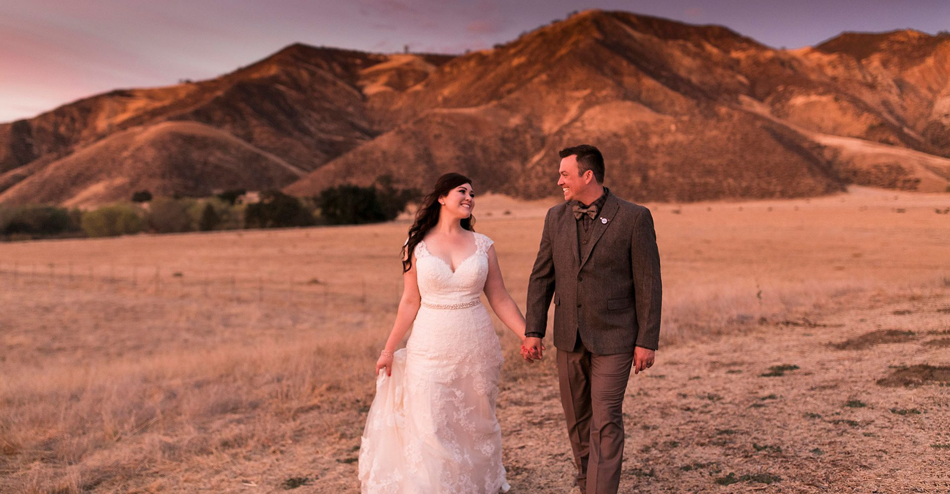 Bar SZ Ranch Sunset wedding