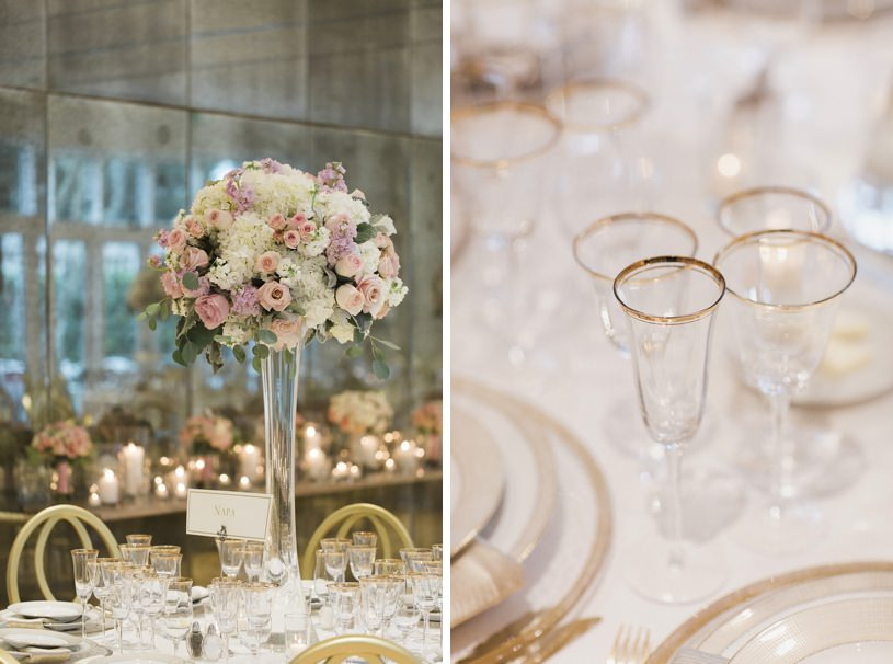 blush pink and gold wedding details at the legion of honor by heather elizabeth photograph