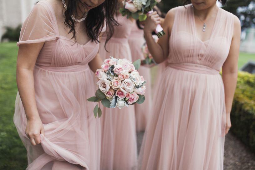 blush pink wedding bridesmaid gown by top wedding photographer heather elizabeth