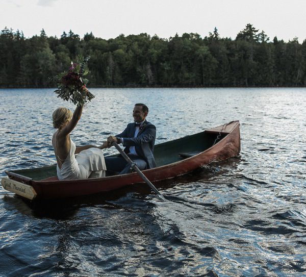 Liz + Ben | Upstate New York Wedding on a Private Island