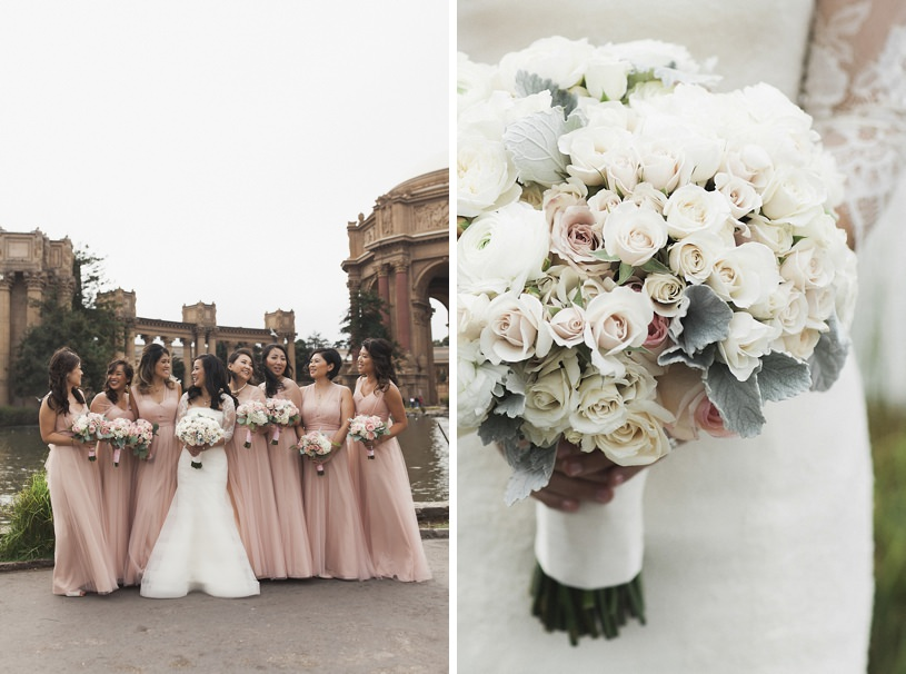 blush pink and gold san francisco wedding by top photographer Heather Elizabeth