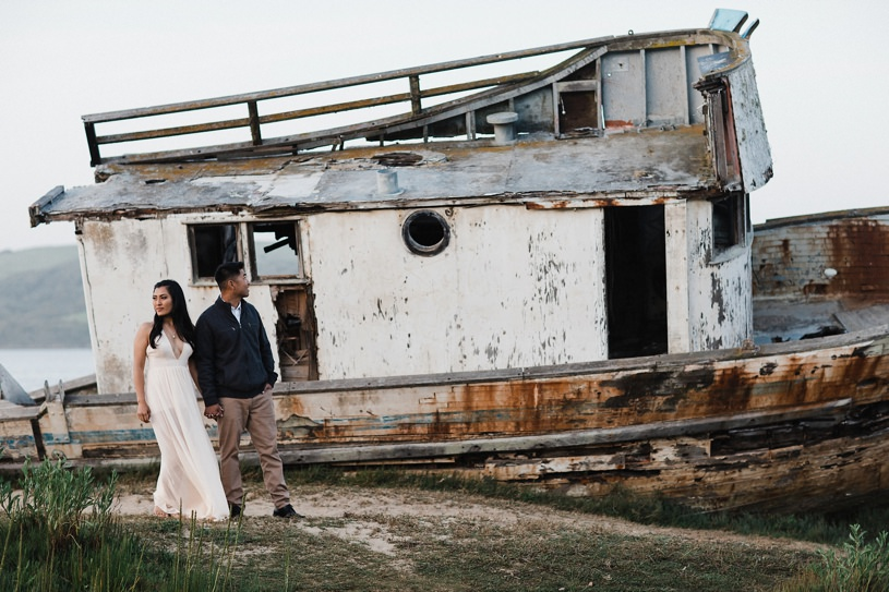point reyes shipwreck engagement session by top wedding photographer Heather Elizabeth