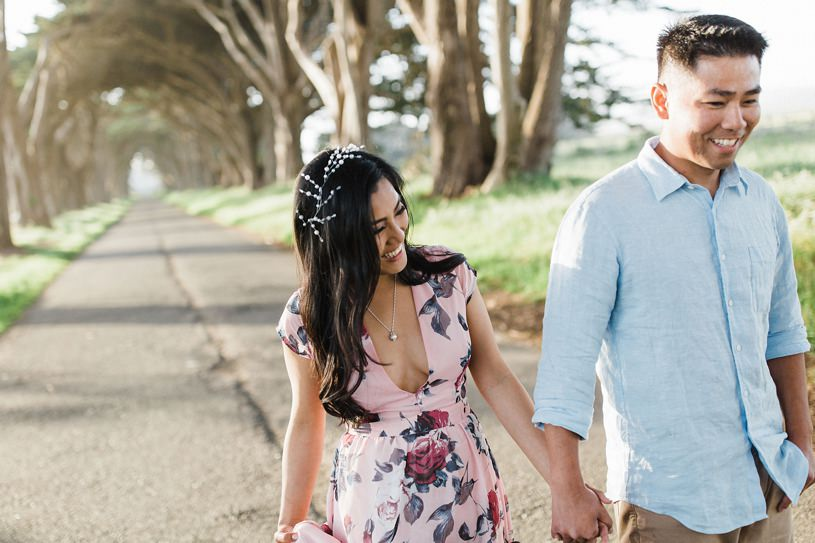 candid natural engagement session at the point reyes national seashore