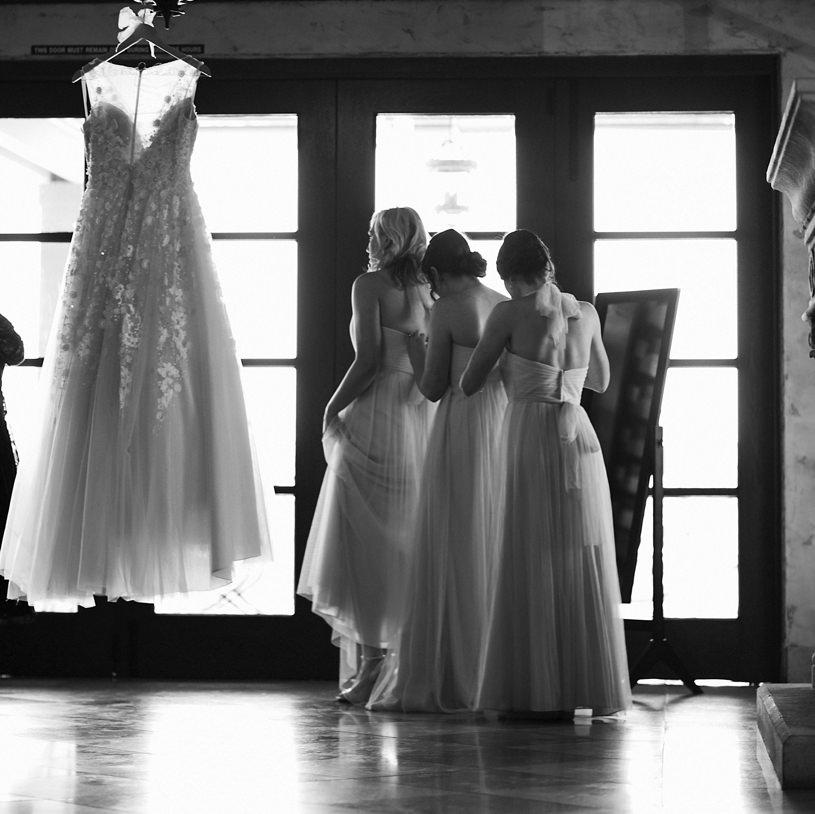 bridesmaids at a regale winery wedding in los gatos