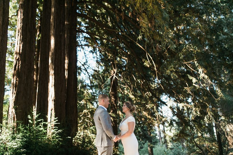 Rustic wedding in Palo Alto with a Pronovias wedding gown by heather elizabeth