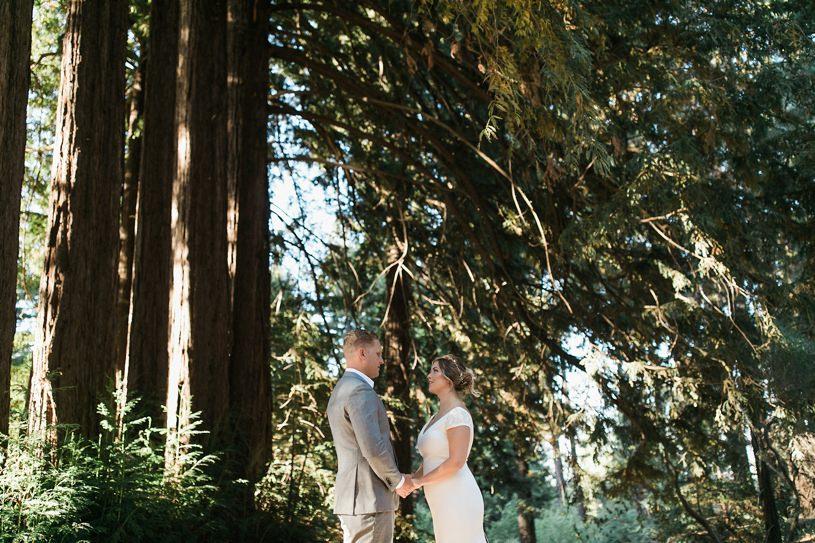 Rustic wedding in Palo Alto with a Pronovias wedding gown by heather elizabeth