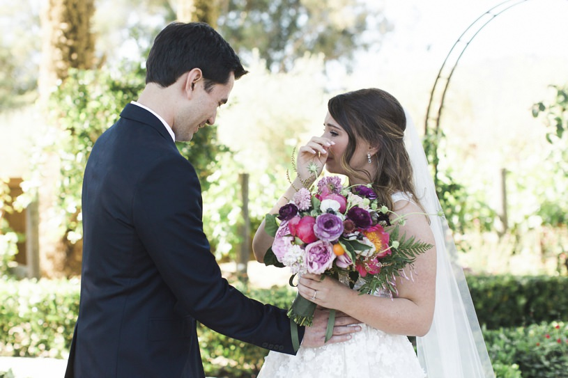 first look at a wedding at regale winery in los gatos