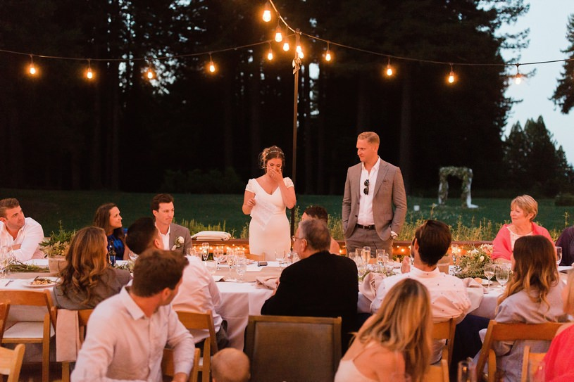 NIGHTTIME RECEPTION AT THE MOUNTAIN TERRACE IN WOODSIDE CALIFORNIA BY HEATHER ELIZABETH