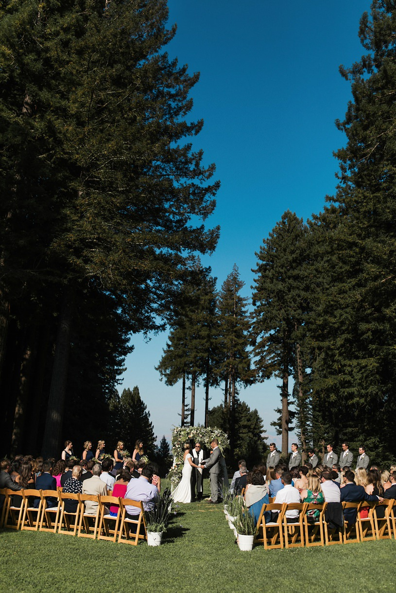Pronovias wedding gown at a mountain terrace ceremony by heather elizabeth