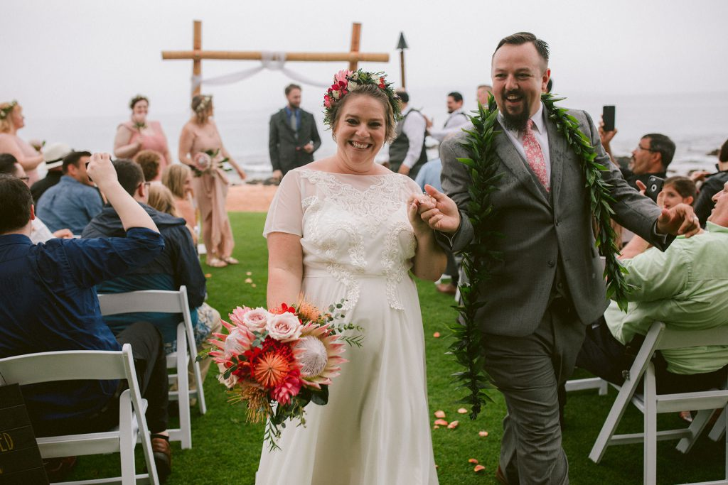 Maui Hawaii bohemian tropical wedding in kihei by heather elizabeth photography