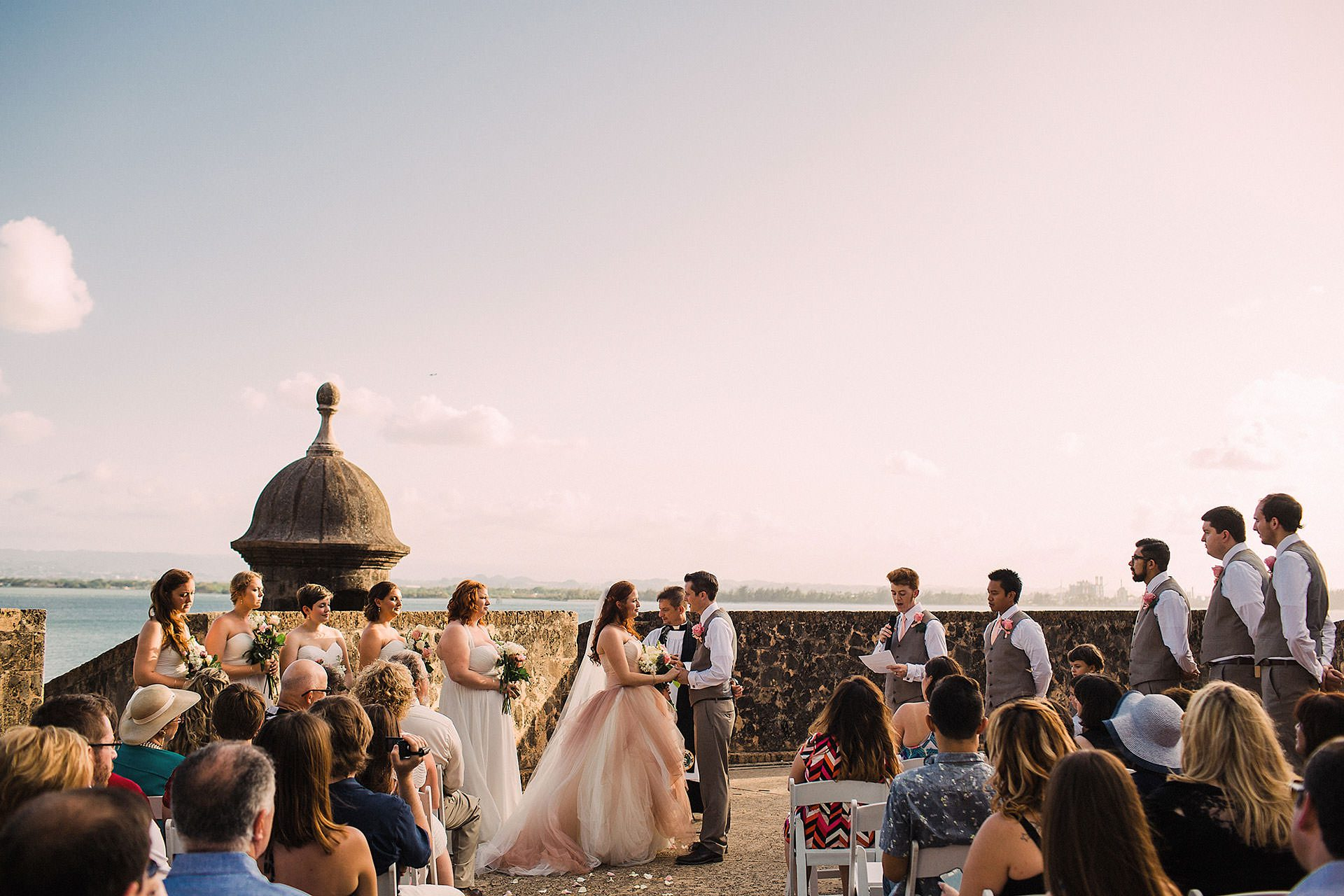 wedding ceremony in old san juan puerto rico by destination wedding photographer heather elizabeth