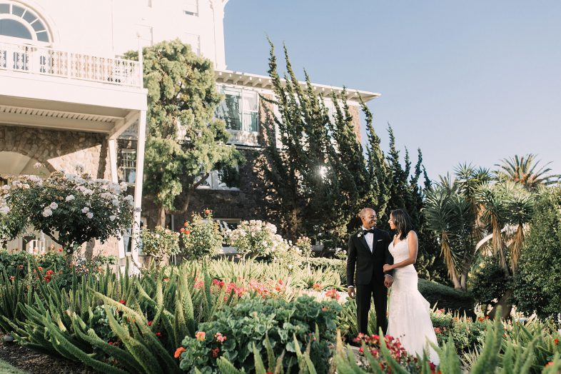Chic black tie wedding at the Claremont Hotel and Spa in Berkley California by Heather Elizabeth Photography