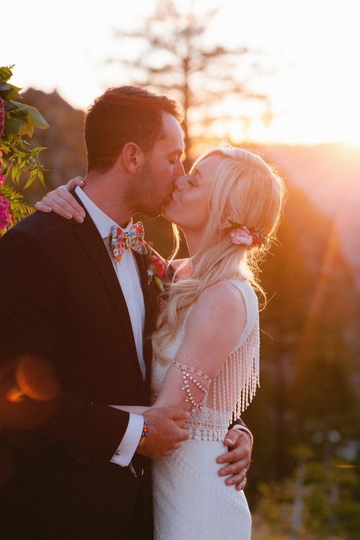 sunset bear valley Bohemian wedding in the Sierras by Heather Elizabeth Photography
